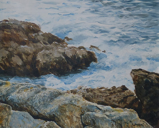 Rhoscolyn Surf - Seascape - Welsh Coast