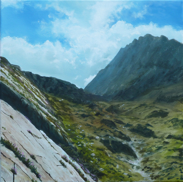 Welsh Landscape Artists, Wales Seascape Artwork, British Landscape Artist, Wales Landscape Artists, Anglesey Sea Paintings, Snowdonia Mountain Artwork, Welsh Landscape Paintings, North Wales Landscapes, Cloud Paintings, Welsh Seascape Art,