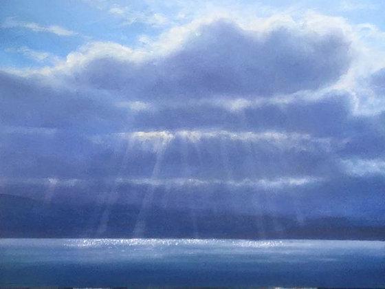 A view across the Menai Straits from Gallows Point Beaumaris