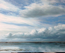Cloud Landscape, Sea Landscape, Welsh Paintings, Welsh Art, Painting of Sky Wales, Painting of Coast Wales,
