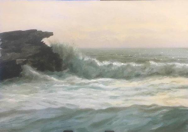Evening surf near Treaddur