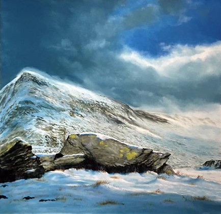 Pen Yr Ole Wen - Cwm Idwal - Snowdonia Landscape - North Wales In Winter