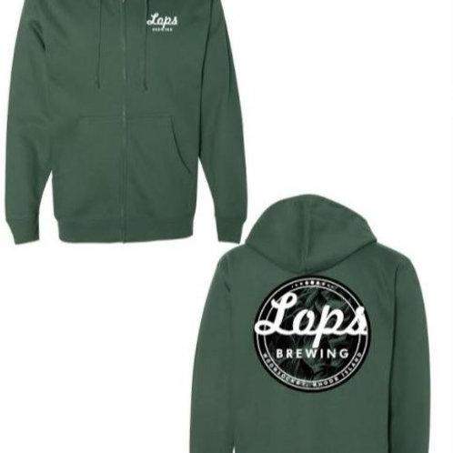 Lops Stitched Zip Sweatshirt - Green