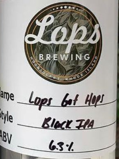 32oz Crowler Can - For Pickup Only - LOPS GOT HOPS BLACK IPA