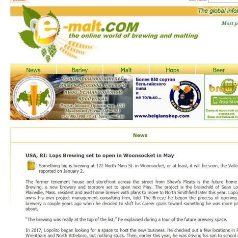 E-Malt.com Article