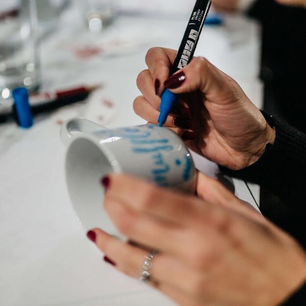 Tasse beschriften als Event