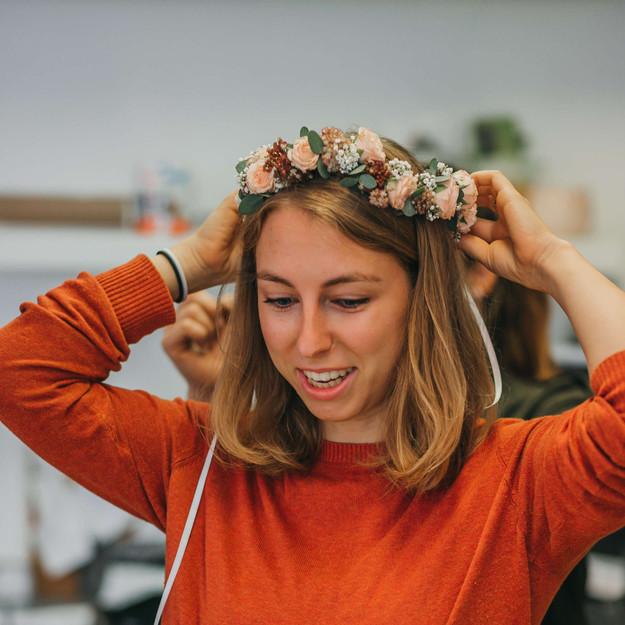 Blumenkranz fürs Haar