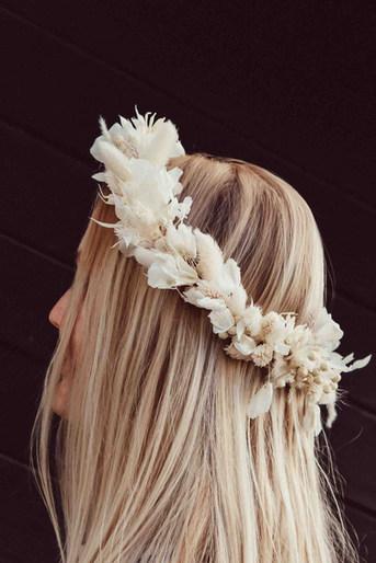 DIY Trockenblumen Haarkranz Set