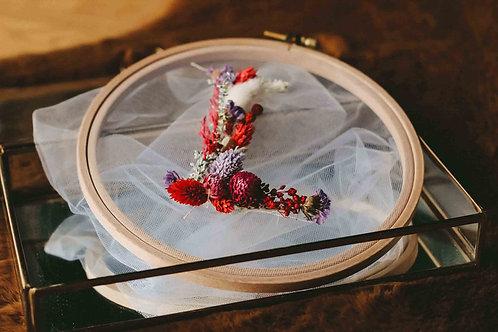 Trockenblüten Stickrahmen DIY Materialien