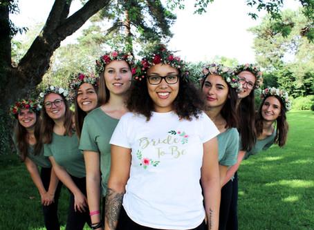 Blumenkranz binden als kreativer JGA Workshop