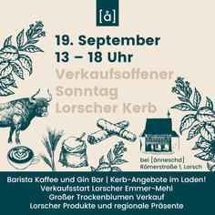 Lorscher Kerb & verkaufsoffener Sonntag am 19. September 2021