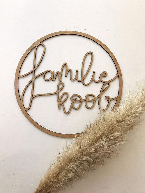 Personalisiertes Familien Holzschild, Kreis