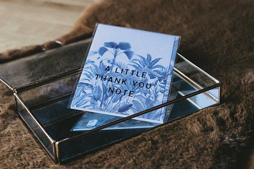 Klappkarte mit Umschlag – Thank you