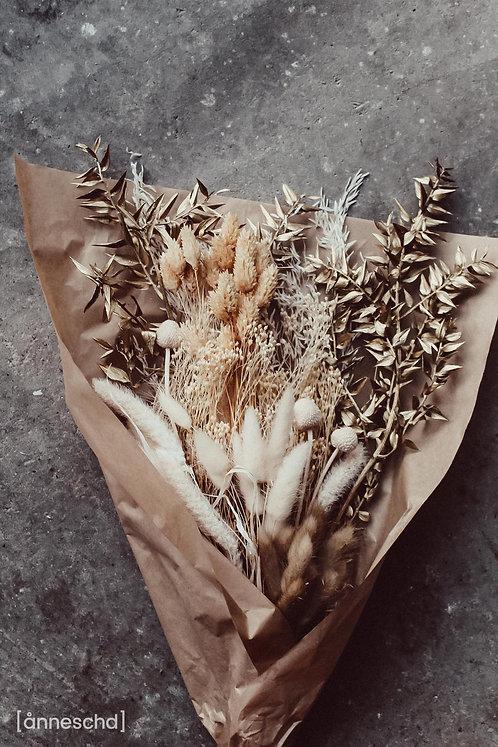 Trockenblumen Strauß | Goldene Weihnachten