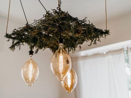 DIY Greenery Lampe selber bauen – anneschd Studio Interior