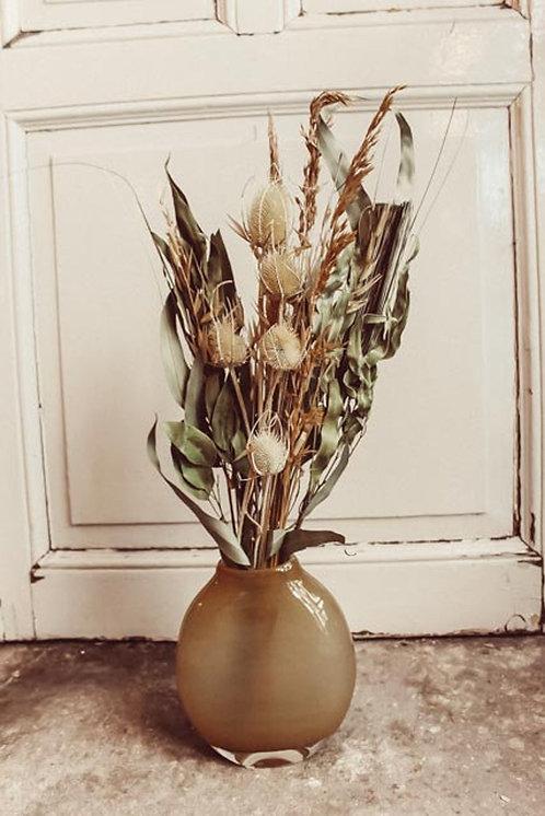 Natural Distel Boho Trockenblumen Strauß