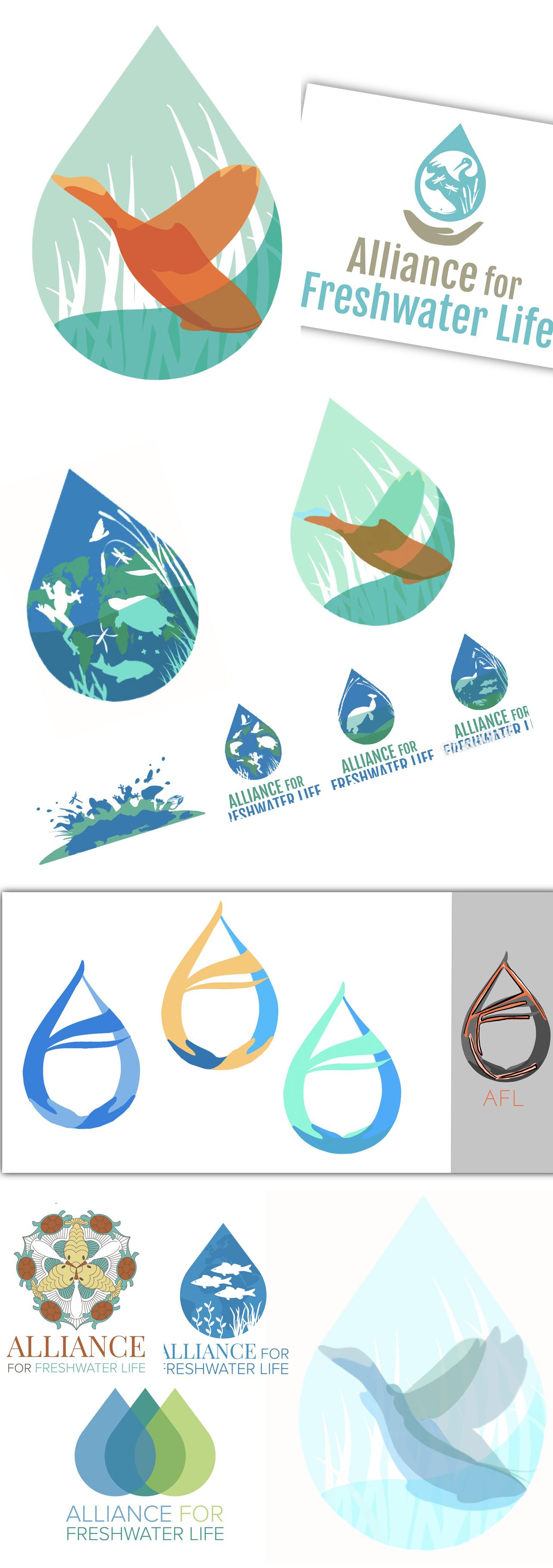 "Collaborative Logo — ""Alliance For Life"" — Vector"