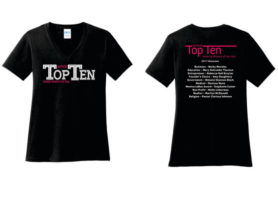 Purchase Your Top Ten Working Women T-Shirt