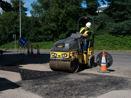 Ongoing works at Ballygowan Road