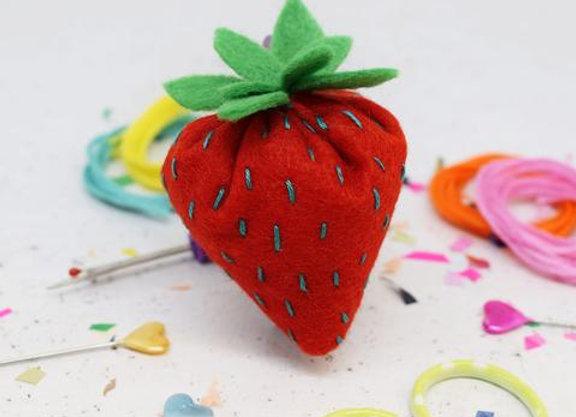 Strawberry Felt Sewing Kit