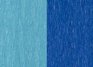 Doublette Crepe Paper - Light Blue/Blue