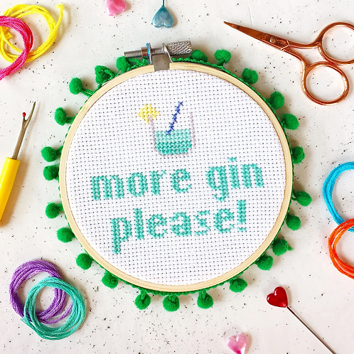 More Gin Cross Stitch Kit