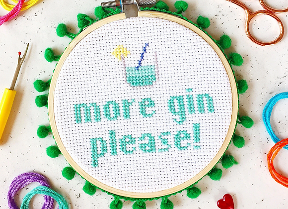 More Gin Cross Stitch Kit
