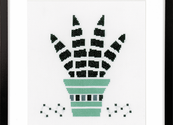 Counted Cross Stitch Kit - Succulent 2