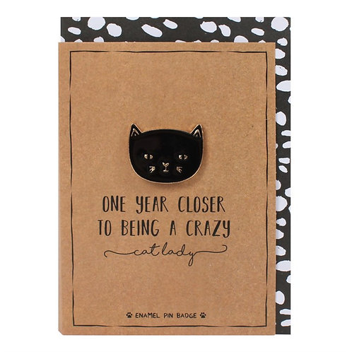 One Year Closer to being a crazy Cat Lady Card