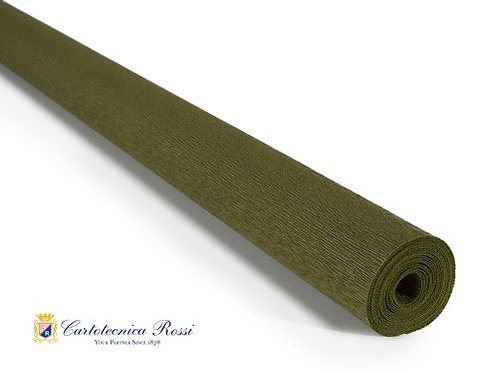 Italian Crepe Paper - 90g roll - 368 Olive Green