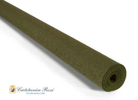 Italian Crepe Paper - 90g roll - 368 Olive Green