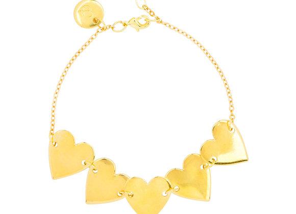 &anne 5 heart bracelet
