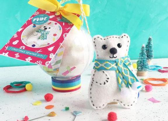 Felt Polar Bear Bauble Craft Kit