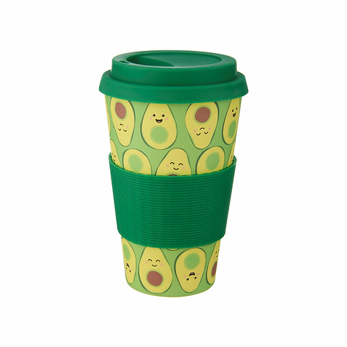 Happy Avocado Bamboo Travel Mug