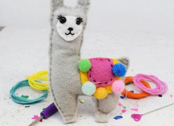 Llama Felt Sewing Kit
