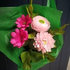 Simple crepe paper bouquet