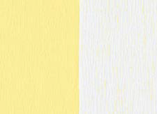 Doublette Crepe Paper - White/Yellow
