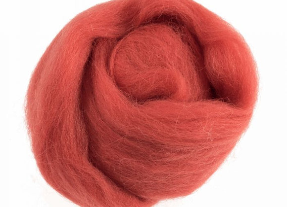 Natural Wool Roving: 10g:Cranberry