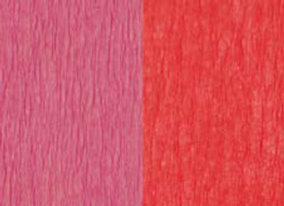 Doublette Crepe Paper - Dark Rose/Red