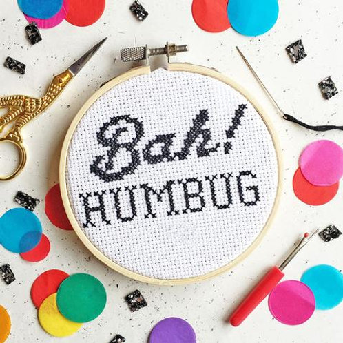 Bah Humbug Cross Stitch Kit