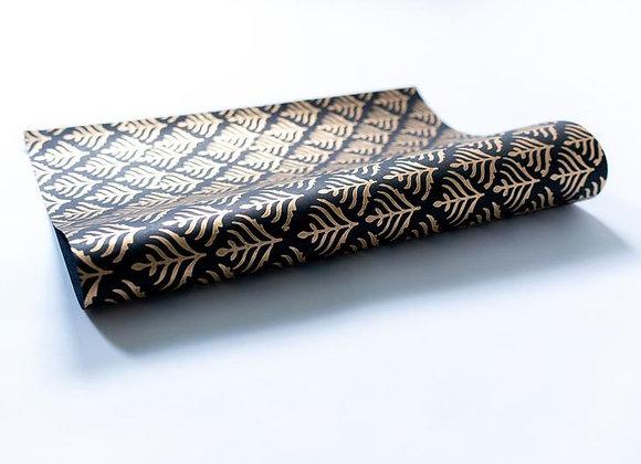 Black Block Print Gift Wrap