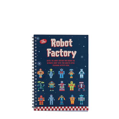 Robot Factory Colouring Book