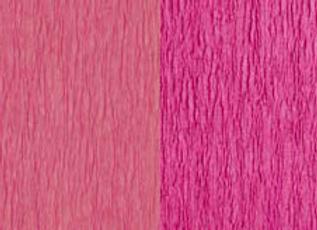 Doublette Crepe Paper - Cerise/Primrose