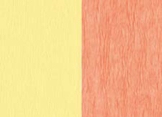 Doublette Crepe Paper - Light Yellow/Salmon