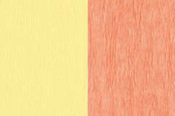 Doublette Crepe Paper - Light Yellow/Salmon