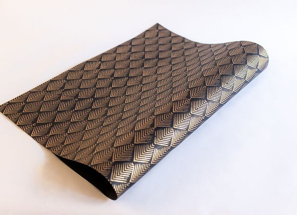 Gatsby Block Print Gift Wrap - Black