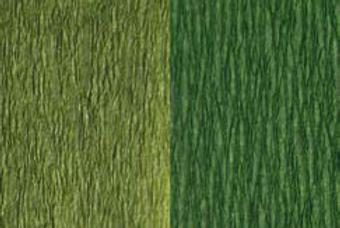 Doublette Crepe Paper - Olive/Light Olive