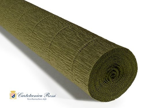 Italian Crepe Paper - 180g roll -17A8 Olive Green