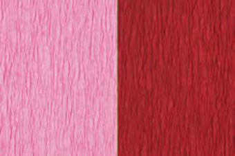 Doublette Crepe Paper - Pink/Carmine Red