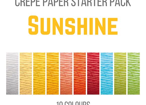 Crepe Paper Starter Pack - Sunshine